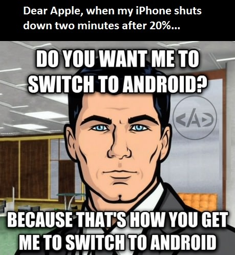 Switching to android like face