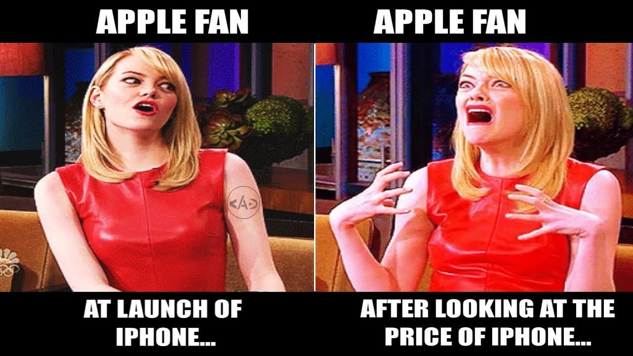 Apple fan at the launch and  and their reaction after looking the price